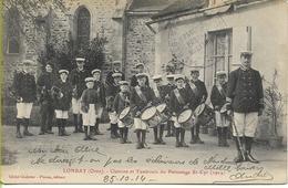 LONRAY Clairons Et Tambours Du Patronage St CYR  (superbe Cachet De Franchise Militaire Du 14éme Régiment De DRAGONS) - Francia