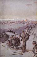 (ski) Albert SINGER: Schneeschuhläufer-Patrouille, 1917 - Guerre 1914-18