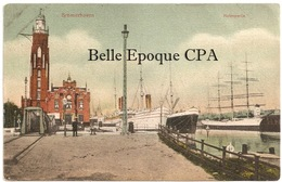Bremen - BREMERHAVEN - Hafenpartie ++++ Hermann Ch. Büsing, Oldenburg +++++ To Brooklyn, NY, USA, 1909 ++++ - Bremerhaven