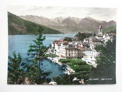 Postcard Lago Di Como BELLAGIO Lombardia Italy Tinted Photo My Ref B2571 - Como