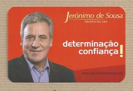 Calendar - Jeronimo De Sousa. Secretary General Of The Portuguese Communist Party. Presidential Election Campaign 2006. - Tamaño Pequeño : 1991-00
