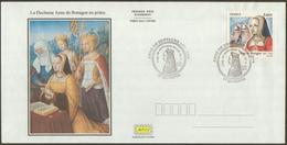 2014 France FDC Canc Quimper Anne De Bretagne, Reine De France - FDC