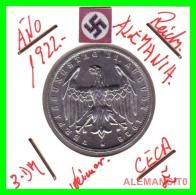 GERMANY - WEIMAR REPUBLIC -  3 Mark  AÑO 1922 -E     Aluminum - [ 3] 1918-1933 : República De Weimar