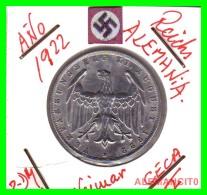 GERMANY - WEIMAR REPUBLIC -  3 Mark  AÑO 1922 -F     Aluminum - [ 3] 1918-1933 : República De Weimar