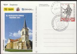 Croatia Vratišinec 2013 / 3rd Philatelic Seminar / Church / Postal Stationery - Philatelie & Münzen