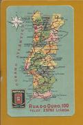 Map Portugal. Calendar Of The Year 1941 With Advertising By Companhia De Seguros Portugal.Karte Von Portugal.Raro.2scan - Europe