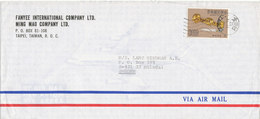 Taiwan Air Mail Cover Sent To Sweden 11-11-198? Single Stamped - 1945-... Republic Of China