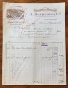 FATTURA PUBBLICITARIA PARIS 1919 FABRIQUE De Parfums  A.BOURJOIS & C. - Francia