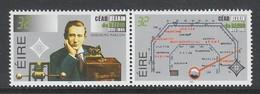 PAIRE NEUVE D'IRLANDE - CENTENAIRE DE LA RADIO N° Y&T 906/907 - Télécom