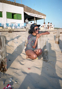 80S BEACH GIRL COSTA CAPARICA PORTUGAL 35mm  AMATEUR NEGATIVE SET NOT PHOTO NEGATIVO NO FOTO
