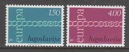 PAIRE NEUVE DE YOUGOSLAVIE - EUROPA 1971 N° Y&T 1301/1302 - Europa-CEPT