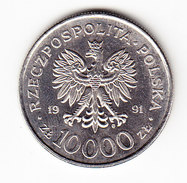 COINS POLOGNE Y 217 1991 10000Z. (M18) - Pologne