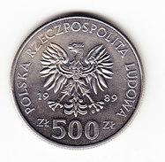 COINS POLOGNE Y 194 1989 500Z.  (M19) - Pologne