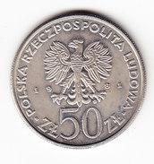 COINS POLOGNE Y 127 1981 50Z UNC.  (M21) - Pologne