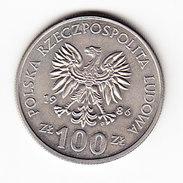 COINS POLOGNE Y 160 1986 100Z.  (M17) - Pologne