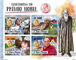 S. Tomè 2016, Nobel Prices, Mandela, Mother Teresa, Dalai Lama, 4val In BF
