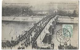 Les Souverains D'Italie  à Paris Les Souverains  Sur Le Pont De La Concorde - Manifestations
