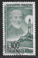 Italy, Scott # C129 Used Mazzini, 1955 - Poste Aérienne