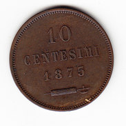 COINS   SAINT-MARIN       KM  2  ( SAN  MARINO)  CT.10  UNC   1875 .      (SM 1509) - Saint-Marin