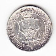 COINS   SAINT-MARIN       KM  10 ( SAN  MARINO)  L.10  UNC  1931 SILVER.  (SM 1502) - Saint-Marin