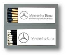 Mercedes-Benz - 2 Matchboxes Boites D' Allumettes Caixas De Fósforos Cajas De Cerillas- 4 Scans - Zündholzschachteln