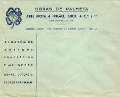 PORTO - OBRAS De PALHETA - Abel Mota & Irmão, Sucr. & C.ª - ENVELOPE COMERCIAL - ADVERTISING - PORTUGAL - 1910-... République