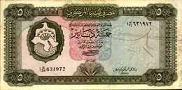 LIBYE 5 DINARS De 1972nd  Pick 36b - Libye