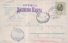 Serbien Alte Karte   (  K3338  ) Siehe Foto - Serbia