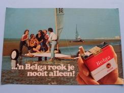 ...'n BELGA Rook Je Nooit Alléén ! ( Size : 19,5 X 13 Cm. / Zie Foto's Voor Detail ) - Advertising Items