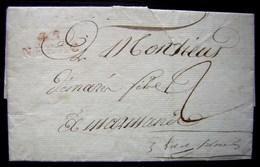 1812 45/ NERAC Marque Rouge Sur Lettre Pour Marmande (Lot Et Garonne) - Postmark Collection (Covers)