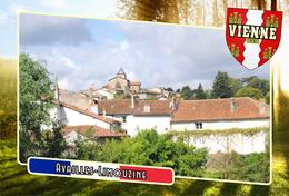 Postcard, Communes Of France, Availles-Limouzine, Vienne - Cartes Géographiques
