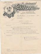 Lettre Illustrée 9/12/1938 The Continental BODEGA Company AMSTERDAM Pays Bas - Vin Espagnol Et Portugais - Pays-Bas