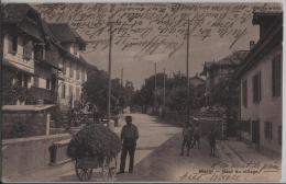 Marin - Haut Du Village - Cafe La Fleur - Animee - Cachet: Thielle - NE Neuchâtel