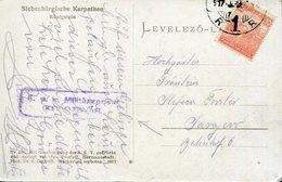 AUSTRIA-HUNGARY WWI KOLOZSVAR CENSOR SIEBENBÜRGISCHE KARPATEN KÖNIGSTEIN - Cartas