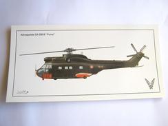 CPA / CPM CARTE POSTALE DE L´ARMEE DE L´AIR EN EXCELLENT ETAT HELICOPTERE PUMA SA 330 B - Régiments