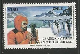 1989 Chile Antarctic Survey Penguins Complete Set Of 1  MNH - Briefmarken