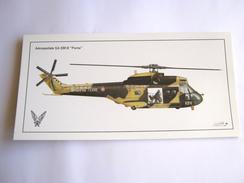 CPA / CPM CARTE POSTALE DE L´ARMEE DE TERRE EN EXCELLENT ETAT HELICOPTERE PUMA SA 330 B