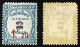 N° TAXE 64- 1f20s 2F Bleu TB Neuf N* Cote 50€ - Taxes