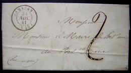 1841 Lettre De Damazan, Pour Le Maire De Port Sainte Marie (Lot Et Garonne) - Postmark Collection (Covers)