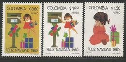 1969 Colombia Christmas Complete Set Of 3  MNH - Colombie