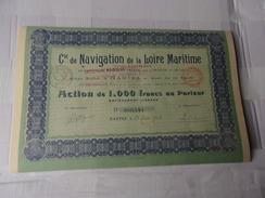 Cie DE NAVIGATION DE LA LOIRE MARITIME (1934) NANTES - Aandelen