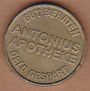 AC - ANTONIUS APOTHEKE GUT BERATEN GELD GESPART ANTONIUS TALER TOKEN JETON - Monétaires/De Nécessité