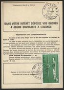 """PA.n°60 """"SEUL"""" Sur Carte De Réexpédition Temporaire - France"""