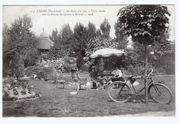 Calais ( Banlieue )  Pont Du Leu Villa Située  Sur La Route De Calais   à Guines   1908 Vélo - France