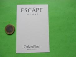 CALVIN KLEIN - Carte Parfumée - Perfume Cards