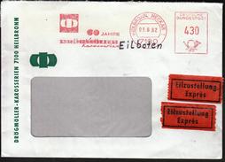 Germany Heilbronn, Neckar 1982 / 60 Years Of Drögmöller Karosserien / Machine Stamp - Fabbriche E Imprese