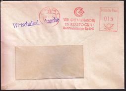 Germany Rostock 1975 / VEB Chemiehandel / Chemical Trader / Machine Stamp - Fabbriche E Imprese
