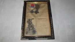MILITARIA - WW1 - CITATION A L'ORDRE DU REGIMENT ( 68e REG. D'INFANTERIE ) + CROIX DE GUERRE ....1916. - Dokumente