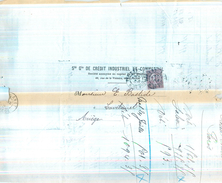 LETTRE Semeuse 20c Brun Lilas N131 Perforé C.I.C. 2 Scans - 1877-1920: Semi Modern Period