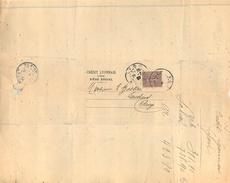 LETTRE Semeuse 20c Brun Lilas N131 Perforé C.L.petite Lettre. 2 Scans - 1877-1920: Semi Modern Period